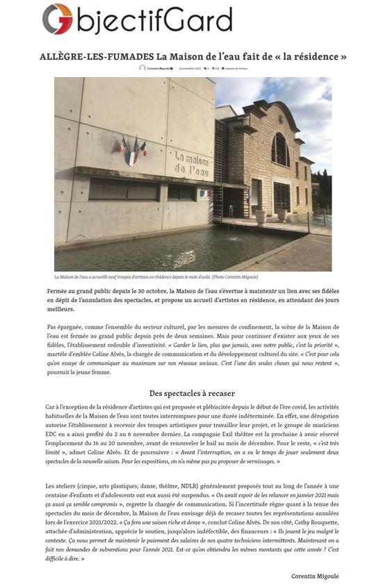Objectif Gard article